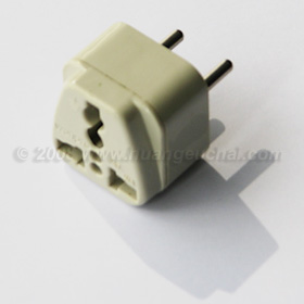This plug adaptor for European 2-pin sockets should cost between S$2.50 to S$5, depending on the type.